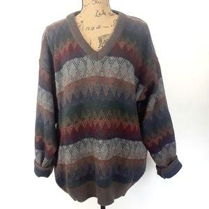 Grandpa sweater striped multicolored